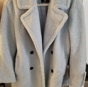 Light Blue Teddy Coat